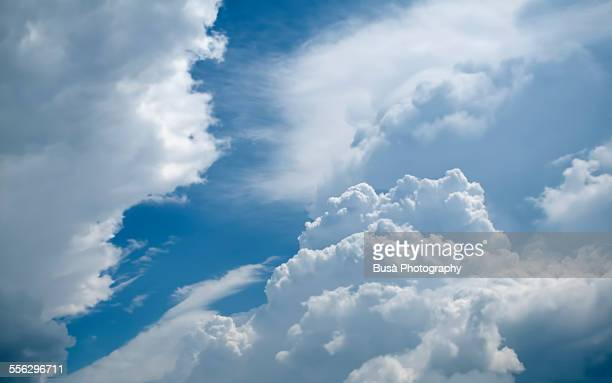 Ethereal blue sky with white clouds