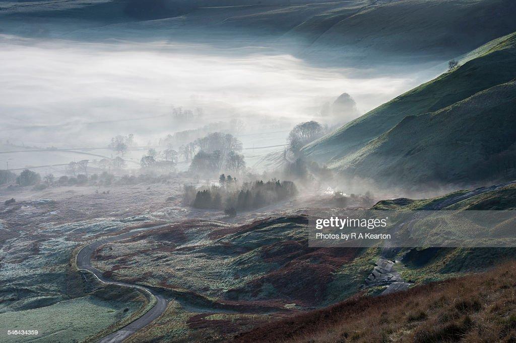 Ethereal veil over the land, Castleton, Derbyshire