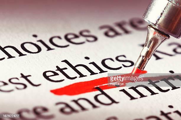 Ethik wird unterstützt stark in einem Dokument: Moral hat Relevanz!