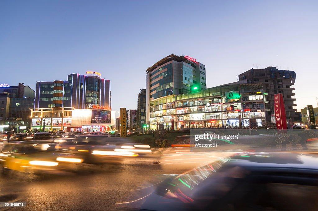 Ethiopia, Addis Ababa, City at night