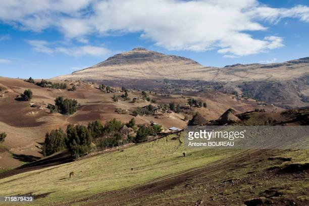 Ethiopia, Landscape in the Simien mountains