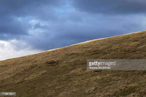Ethiopia, Lighting effect on the crest of a mountain, Simien Mountains