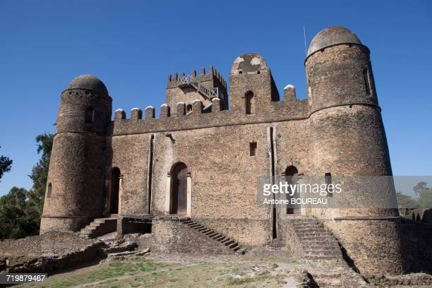 Ethiopia, Overview on the castle of Gondar built in 1640, palace of king