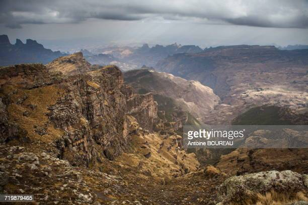 Ethiopia, Overview on the whole Simien mountains national park from the edge of the plateau