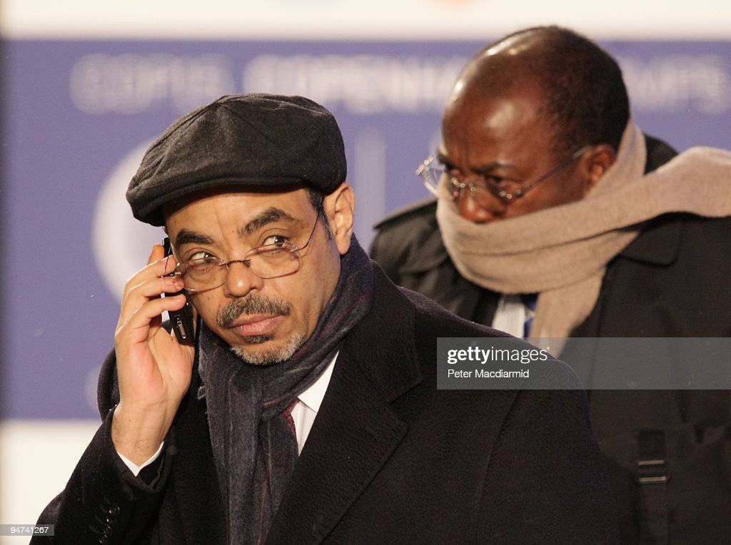 Ethiopia Prime Minister Meles Zenawi arrives for the final day of the UN Climate Change Conference on December 18, 2009 in Copenhagen, Denmark. World leaders will try to reach agreement on targets for reducing the earth's carbon emissions on this last day of the summit.