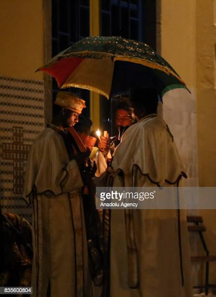 Ethiopian Christians hold a religious ceremony at Gola St Michael Church as they celebrate Buhe Holiday in Addis Ababa Ethiopia on August 19 2017...