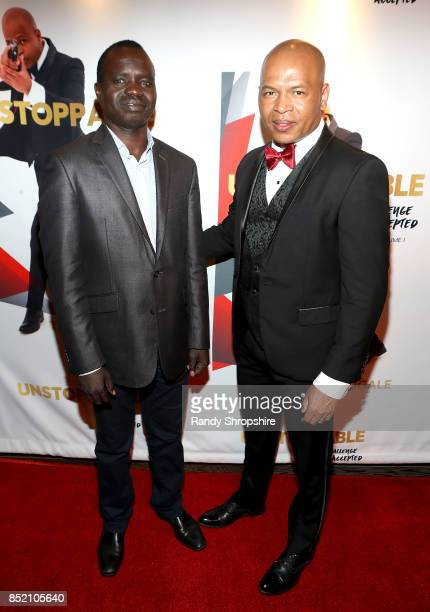 Ethiopian Consulate Abulla Othuw and Tariku Bogale attend 'Unstoppable' Tariku Bogale book launch on September 22 2017 in West Hollywood California