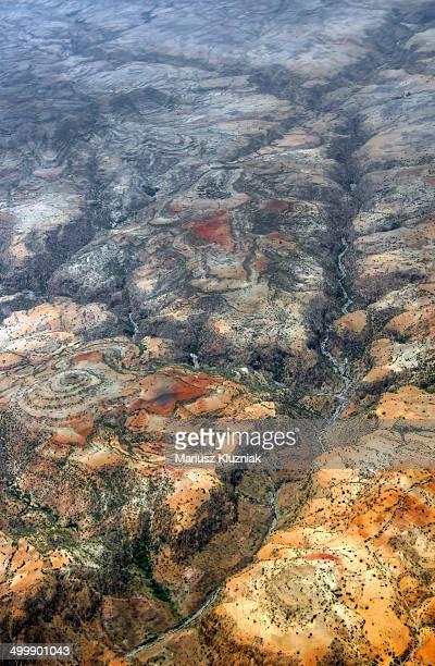 Ethiopian landscape bird view