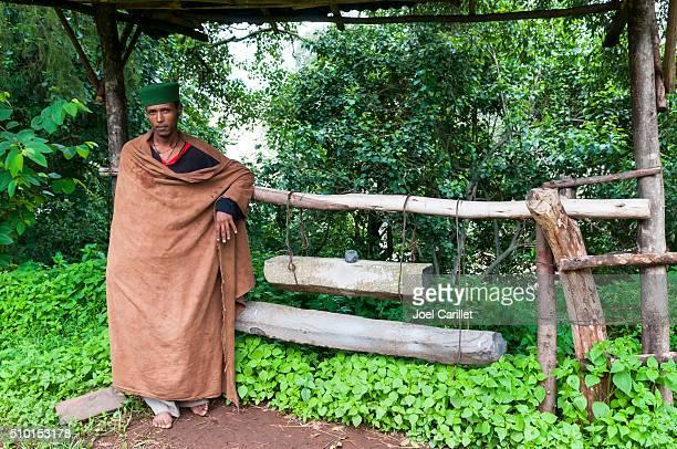 Äthiopischer Mann im Kebran Gabriel-Kloster