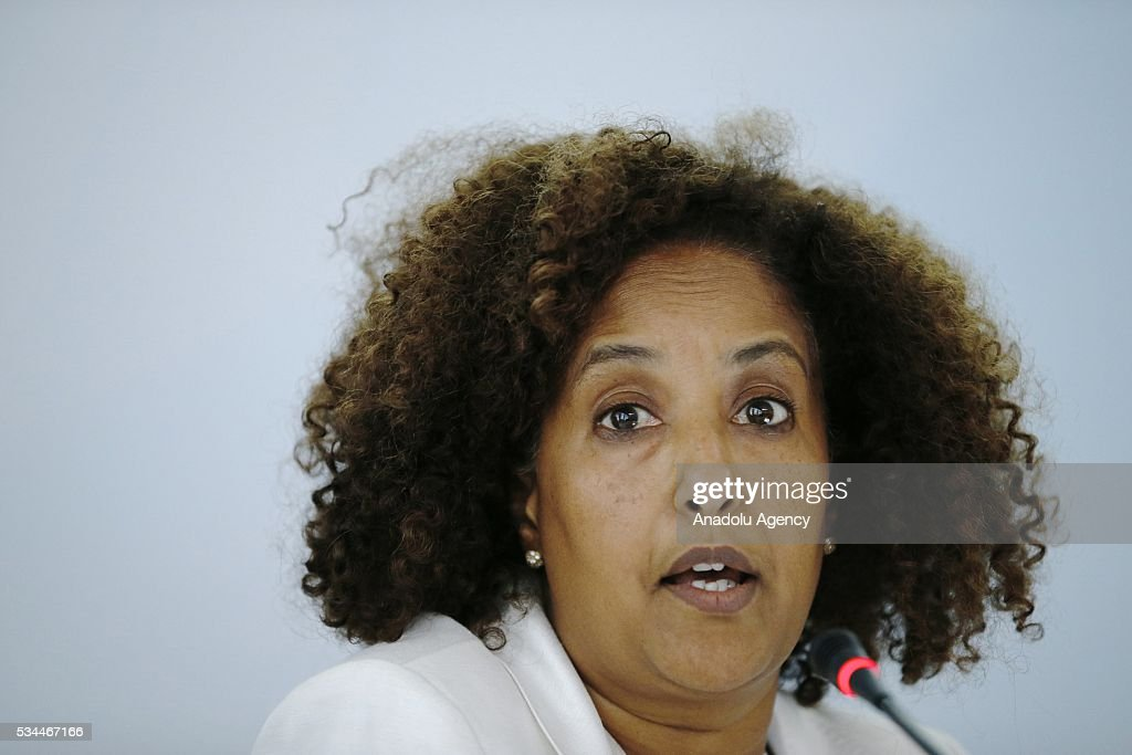 Ethiopian member of LDC watch Azeb Girmai Tesfai attends Midterm Review of the Istanbul Programme of Action at the Titanic Hotel in Antalya, Turkey on May 26, 2016. The Midterm Review conference for the Istanbul Programme of Action for the Least Developed Countries will take place in Antalya, Turkey from 27-29 May 2016. The conference will undertake a comprehensive review of the implementation of the Istanbul Programme of Action by the least developed countries (LDCs) and their development partners and likewise reaffirm the global commitment to address the special needs of the LDCs.