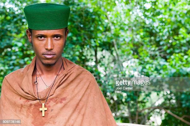 Äthiopischer-orthodoxe Christen Mann im Tanasee