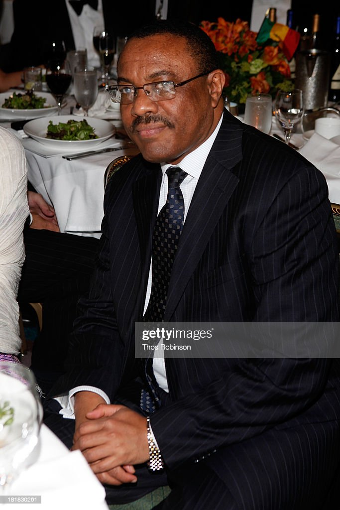 Ethiopian Prime Minister <a gi-track='captionPersonalityLinkClicked' href=/galleries/search?phrase=Hailemariam+Desalegn&family=editorial&specificpeople=7752700 ng-click='$event.stopPropagation()'>Hailemariam Desalegn</a> attends Africa-America Institute 60th Anniversary Awards Gala at New York Hilton on September 25, 2013 in New York City.
