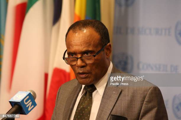 Ethiopian representative to the UN Security Council Tekeda Alum addresses the media postmeeting The United Nations Security Council met for more than...