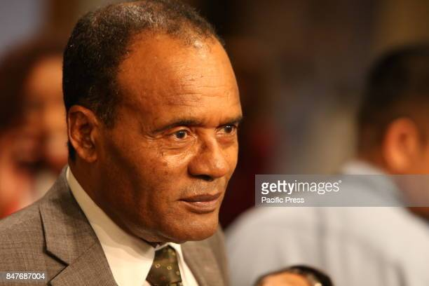 Ethiopian Security Council representative Tekeda Alum speaks to the press after meeting over the Korean crisis The United Nations Security Council...