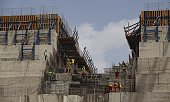 Ethiopian workers construct on March 31 2015 the Grand Renaissance Dam near the SudaneseEthiopian border Ethiopia began diverting the Blue Nile in...