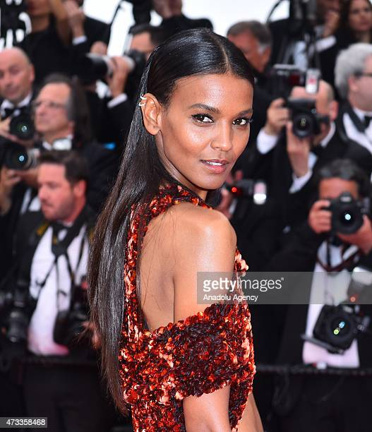 Ethiopianborn model Liya Kebede arrives for the screening of 'Mad Max Fury Road' at the 68th international film festival in Cannes France on May 14...