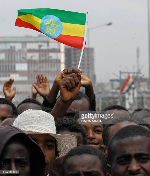 Ethiopians mark 20 years in power of the Ethiopian People's Revolutionary Front on May 282011 after toppling the regime of dictator Mengistu Haile...