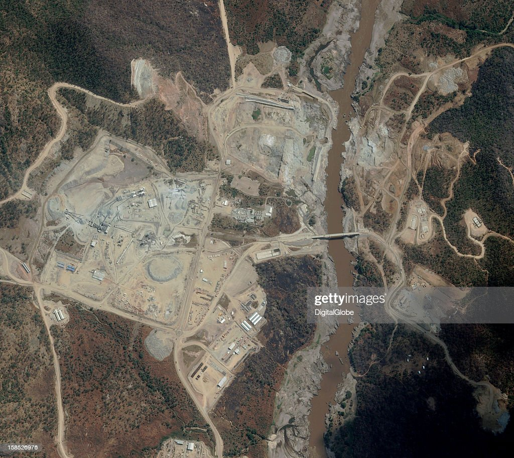Ethiopia's Grand Resaissnace Dam is on track for completion in 2015, according to Alemayehy Tegenu, the country's energy minister. The mega-dam is expected to produce 6, 000 MW (e), making it Africa's largest dam. This satellite image collected on November 29, 2012 shows the progress of construction.