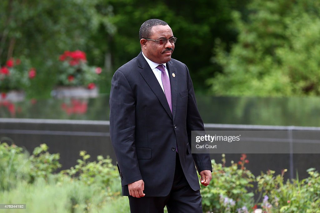 Ethiopia's Prime Minister <a gi-track='captionPersonalityLinkClicked' href=/galleries/search?phrase=Hailemariam+Desalegn&family=editorial&specificpeople=7752700 ng-click='$event.stopPropagation()'>Hailemariam Desalegn</a> arrives to attend a working session with outreach guests at the summit of G7 nations at Schloss Elmau on June 8, 2015 near Garmisch-Partenkirchen, Germany. In the course of the two-day summit G7 leaders are scheduled to discuss global economic and security issues, as well as pressing global health-related issues, including antibiotics-resistant bacteria and Ebola. Several thousand protesters have announced they will seek to march towards Schloss Elmau and at least 17,000 police are on hand to provide security.