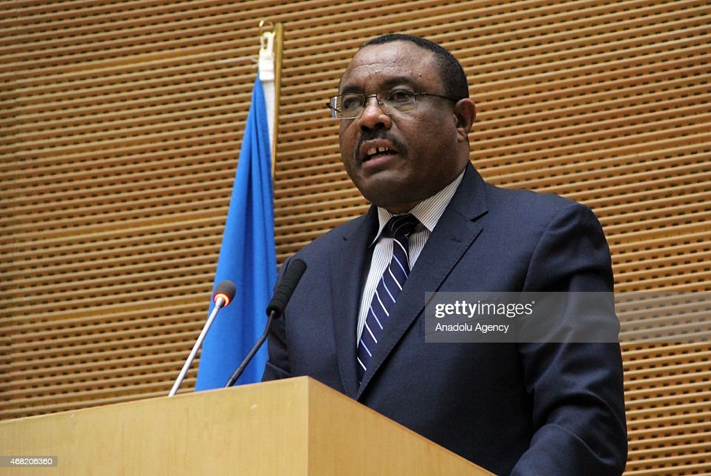 Ethiopia's Prime Minister <a gi-track='captionPersonalityLinkClicked' href=/galleries/search?phrase=Hailemariam+Desalegn&family=editorial&specificpeople=7752700 ng-click='$event.stopPropagation()'>Hailemariam Desalegn</a> gives a speech during the final session of the 18th Summit of Common Market for Eastern and Southern Africa (COMESA) held in Addis Ababa, Ethiopia on March 30, 2015.