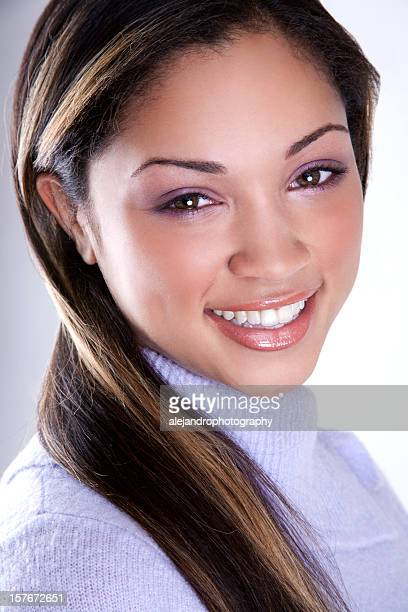ethnic woman smiling