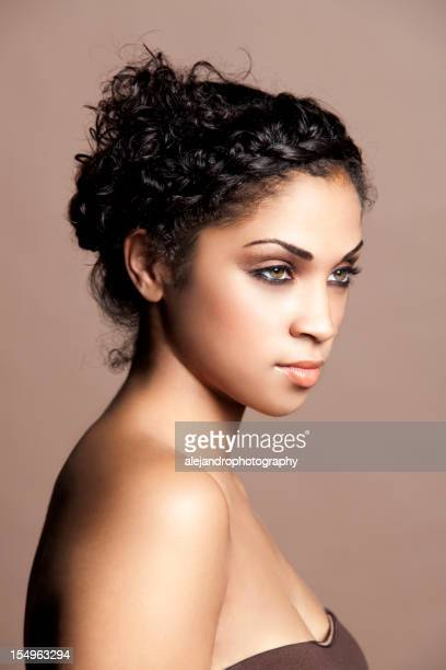 Ethnic woman with an updo