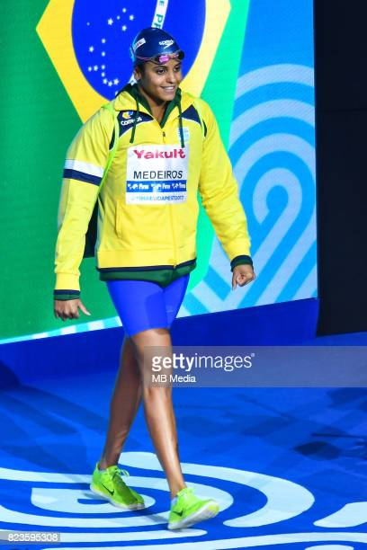 Etiene Medeiros during the Budapest 2017 FINA World Championships on July 26 2017 in Budapest Hungary