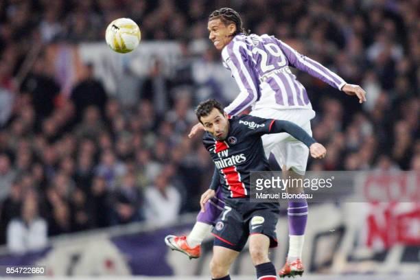 Etienne CAPOUE / Ludovic GIULY Toulouse / PSG 29eme journee de Ligue 1 Stadium de Toulouse