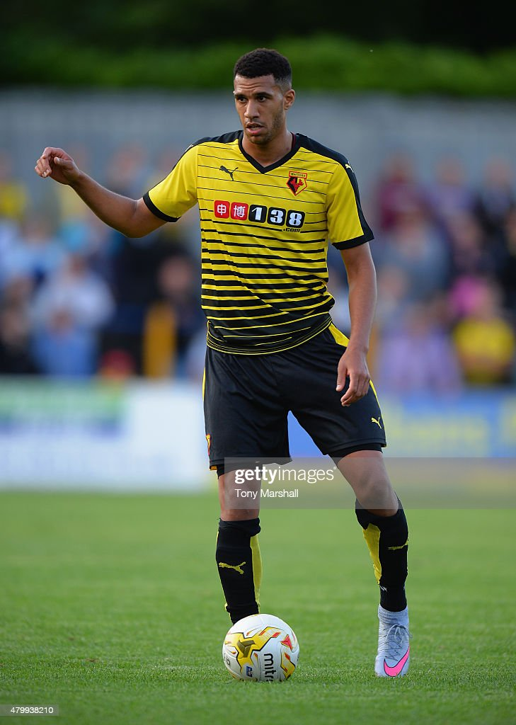 Etienne Capoue of Watford during the Pre Season Friendly match between St Albans City and Watford at Clarence Park on July 8 2015 in St Albans England