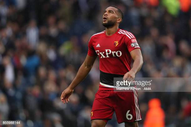 Etienne Capoue of Watford during the Premier League match between West Bromwich Albion and Watford at The Hawthorns on September 30 2017 in West...