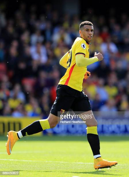 Etienne Capoue of Watford in action during the Premier League match between Watford and Manchester City at Vicarage Road on May 21 2017 in Watford...