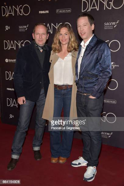 Etienne ComarCecile de France and Reda Kateb attend 'Django' Premiere at Le Grand Rex on April 3 2017 in Paris France