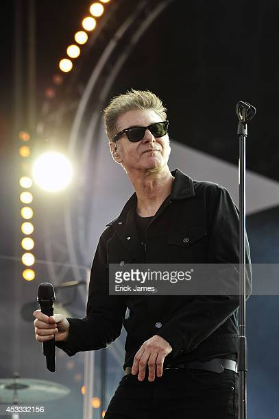 Etienne Daho performs live during the Music Festival des Vieilles Charrues on July 20th 2014 in Carhaix France
