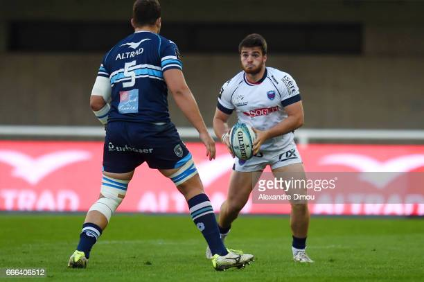 Etienne Fourcade of Grenoble during the Top 14 match between Montpellier and Grenoble on April 8 2017 in Montpellier France