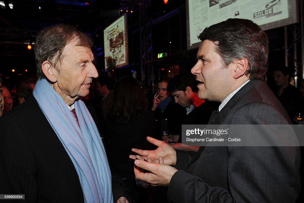 Etienne Mougeotte and Franck Louvrier attend France Soir Launch Party in Paris.