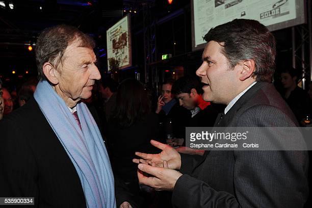 Etienne Mougeotte and Franck Louvrier attend France Soir Launch Party in Paris