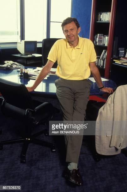 Etienne Mougeotte directeur general de TF1 le 31 juillet 1992 a Paris France