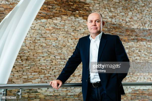 Etienne Nel chief executive officer of ZAR X poses for a photograph at the ZAR X South Africa's second stock exchange in Johannesburg South Africa on...