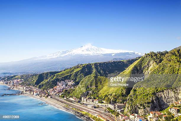 Etna volcano seen from Taormina