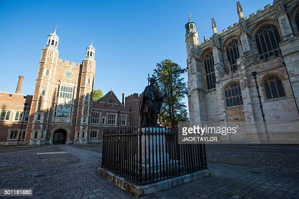 Eton College is pictured in Eton west of London on October 1 2015 Wearing a white tie and coat tails Ammar Mustapha stands near the manicured grounds...