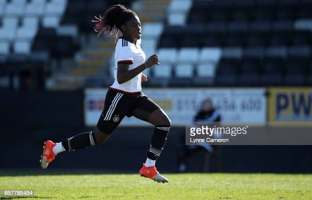 Etonam Nicole Anyomi of Germany during the Germany v Italy U17 Girl's Elite Round at Keys Park on March 25 2017 in Cannock England
