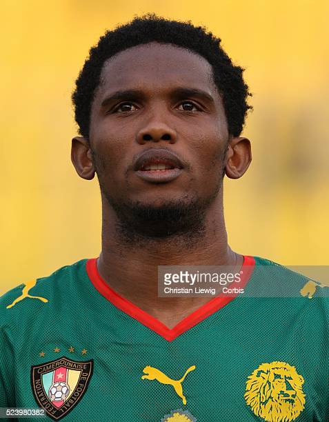 Eto'o of Cameroon during the Group C 2008 African Cup of Nations match at the Baba Yara Stadium in Kumasi Ghana West Africa