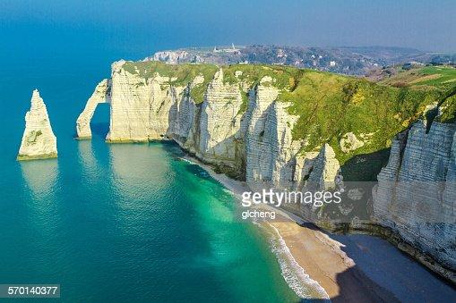 Etretat coastline, Normandy, Seine-Maritime, France