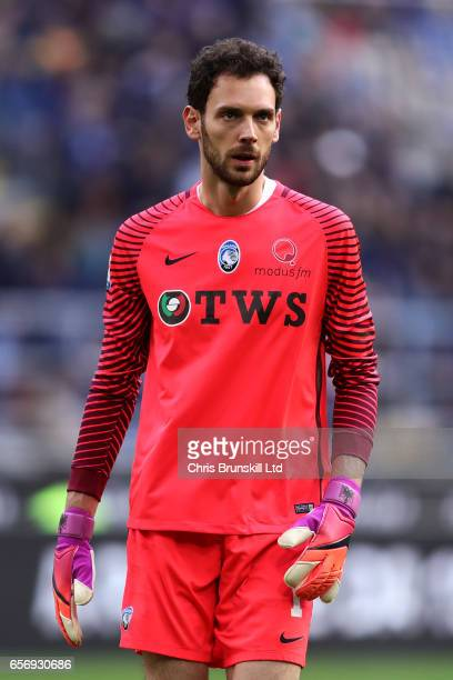 Etrit Belisha of Atalanta BC looks on during the Serie A match between FC Internazionale and Atalanta BC at Stadio Giuseppe Meazza on March 12 2017...