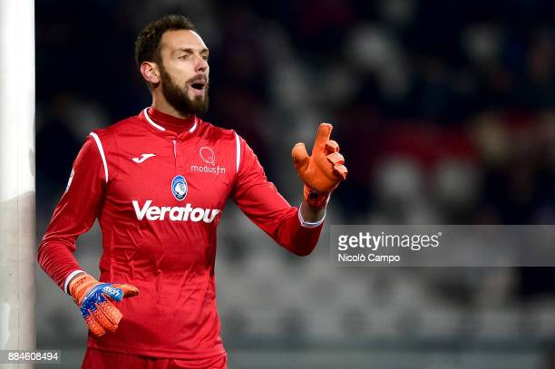 Etrit Berisha of Atalanta BC gestures during the Serie A football match between Torino FC and Atalanta BC The match ended in a 11 tie