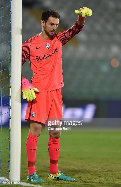 Etrit Berisha of Atalanta BC in action during the Serie A match between FC Crotone and Atalanta BC at Adriatico Stadium on September 26 2016 in...