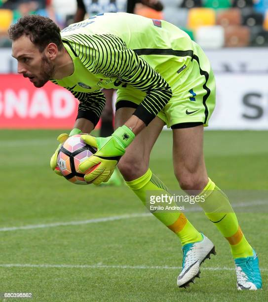 Etrit Berisha of Atalanta BC in action during the Serie A match between Udinese Calcio and Atalanta BC at Stadio Friuli on May 7 2017 in Udine Italy
