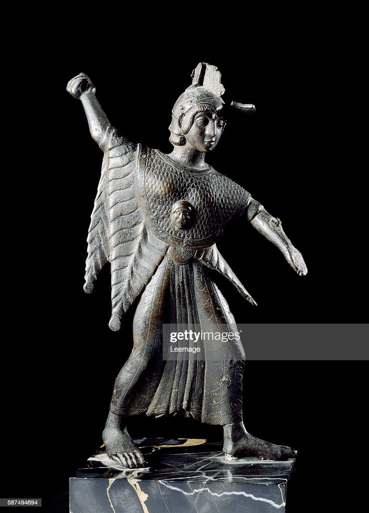 bronze statuette of the goddess Minerva from Catona near Arezzo 500475 BC 215 cm Estense museum collection of the Dukes of Estensi Modena Italy