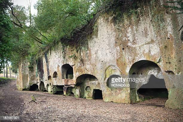 Etruskischer Stil necropolis in Sutri, Lazio Italien