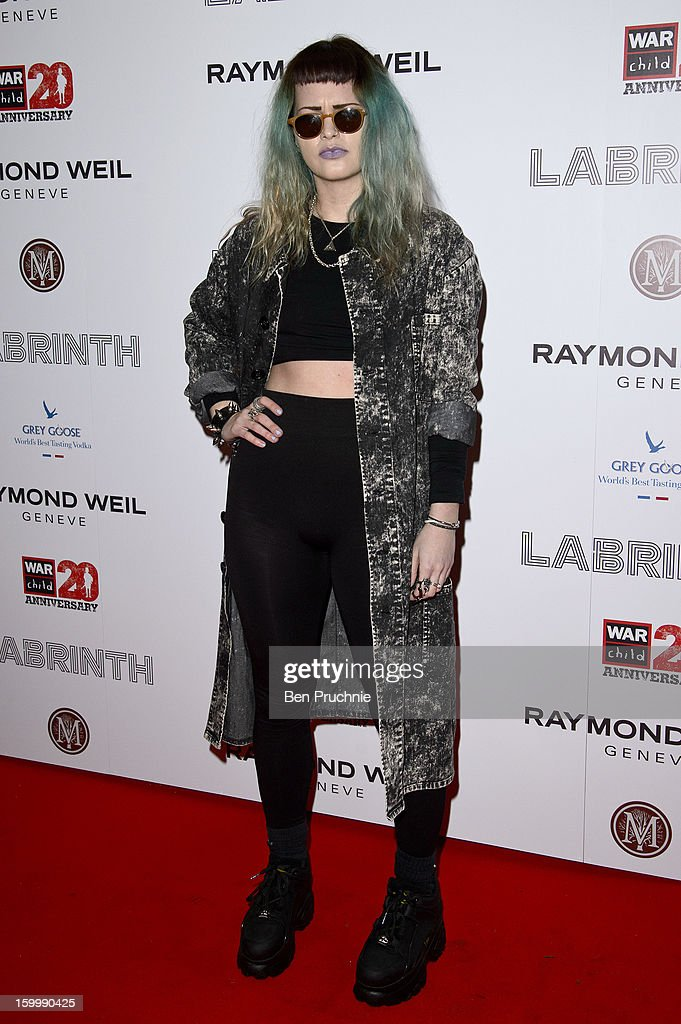 Etta Bond attends the Raymond Weil pre-Brit Awards dinner and 20th anniversary celebration of War Child at The Mosaica on January 24, 2013 in London, England.